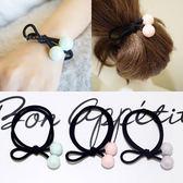 冰淇淋色糖果綁繩髮圈 兒童髮飾 彩色髮圈 造型髮圈