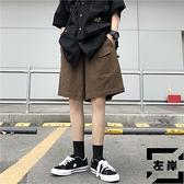 工裝短褲男女夏季復古小口袋寬鬆顯瘦直筒休閒五分褲【左岸男裝】