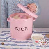 防潮箱鐵米桶儲米箱廚房15 斤米桶8kg 防蟲防黴粉色狗糧貓糧桶送米杯XW