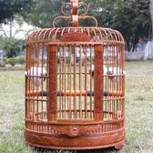 雕刻畫眉鳥籠竹精品