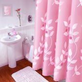浴簾防水加厚防霉套裝隔斷衛生間窗簾廁所洗澡間浴室布簾子免打孔 熊貓本