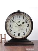 歐式復古座鐘台鐘客廳美式大號台式鐘錶擺鐘桌面家用坐鐘時鐘擺件MBS『潮流世家』