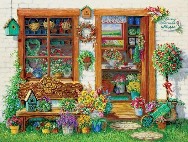 [KANGA GAMES]拼圖花樣花店 Little Shoppe - Fancy Flower Shop 750片