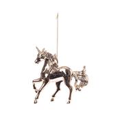 電鍍玫瑰金色獨角馬吊飾