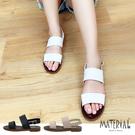 涼鞋 簡約雙寬帶平底涼鞋 MA女鞋 T8...