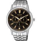 【送米奇電扇】CITIZEN 星辰 光動能日曆手錶-黑x銀/44mm BU2071-87E