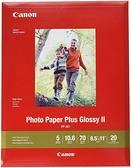 [2美國直購] Canon 8x11吋 相片紙20張 Canon 1432C003 Photo Paper Plus Glossy II 8.5吋 x 11吋 20 Sheets