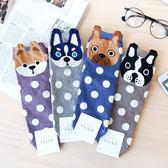 韓國 立體大頭狗造型四分襪 短襪 襪子 造型襪 流行襪 法鬥 鬥牛犬 狗狗