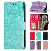 小米 紅米Note8 Pro 蕾絲花點鑽皮套 手機皮套 插卡 支架 掀蓋殼 保護套