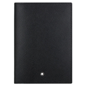 十字紋牛皮護照夾-黑色 113232 MONTBLANC 萬寶龍