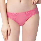 思薇爾-花萃系列M-XL蕾絲低腰三角內褲(迷戀粉)