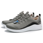 SKECHERS ULTRA FLEX 2.0 灰 白 假鞋帶 襪套式 休閒鞋 男 (布魯克林) 52766GYBK
