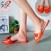 拖鞋-雙層蝴蝶結拖鞋 #B7261