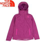 【The North Face 美國 女款 Gore-Tex羽絨兩件式外套《玫紫》】CUF1/防水透氣/三合一/鵝絨
