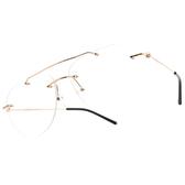 CARIN 光學眼鏡 ALEXA C1 (玫瑰金-黑) 無框 氣質造型款 韓星秀智代言 飛行款 # 金橘眼鏡
