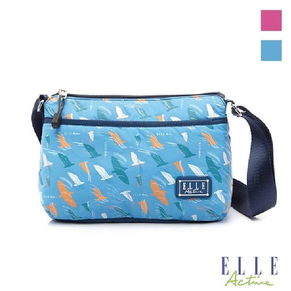 Backbager 背包族 【ELLE Active】自由鴿系列平口側背包/隨身包/斜背包 粉紅色/藍色