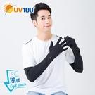 UV100 防曬 抗UV-涼感快調長袖套-掀指觸控