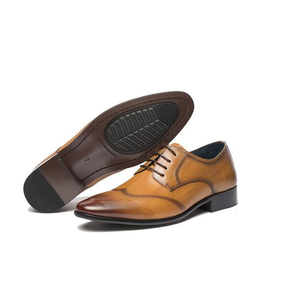 Waltz-經典質感花紋紳士鞋211020-23咖