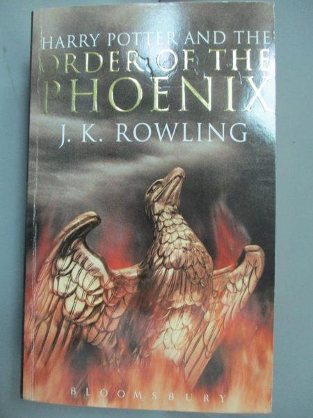 【書寶二手書T1/原文小說_ODL】Harry Potter and the Order of the Phoenix_J.K.ROWLING