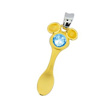 迪士尼系列金飾-彌月金飾禮盒-金湯匙米奇款
