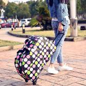 簡約布旅行包女拉桿包手提大容量防水輕便行李箱男行李袋短途摺疊
