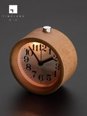 臥室靜音木頭創意個性復古學生用兒童床頭鐘表鬧鈴夜光電子小鬧鐘  免運快速出貨