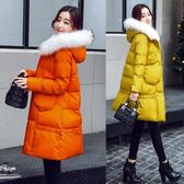 羽絨外套 中長款-時尚毛領修身保暖女夾克3色73it151[時尚巴黎]