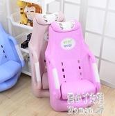 兒童洗頭椅寶寶洗頭床小孩洗頭躺椅嬰兒洗髮椅加大 JY8223【pink中大尺碼】