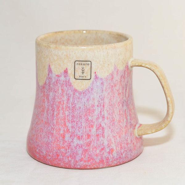 赤富士山 吉祥杯 陶瓷馬克杯 日本製造