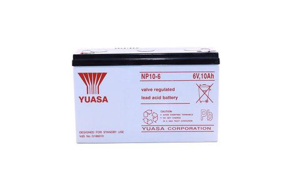 YUASA 湯淺 NP10-6 6V,10AH 兒童電動車 緊急照明燈電池蓄電池