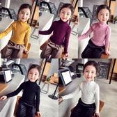女童毛衣2018新款兒童針織衫洋氣女孩打底衫秋冬純色百搭高領毛衣
