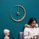 鐘創意個性藝術北歐輕奢鐘表裝飾鐘個性創意掛牆掛鐘客廳現代簡約 聖誕節全館免運