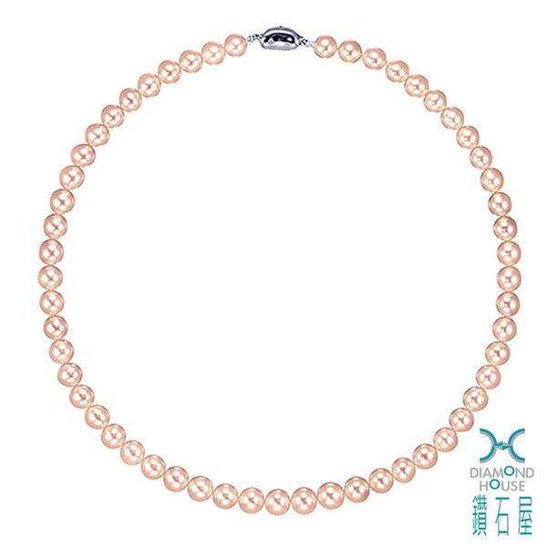 ﹝鑽石屋﹞8.5mm天然彩珠珍珠項鍊PB036917
