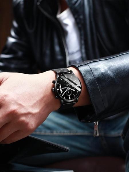 手錶男學生運動石英錶防水潮流全自動機械錶高中男錶男士蟲洞概念  夏季新品