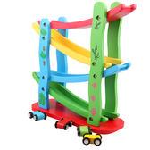 嬰幼兒童男寶寶小汽車玩具益智四層滑翔車軌道飛車1-2-3-6周半歲 igo
