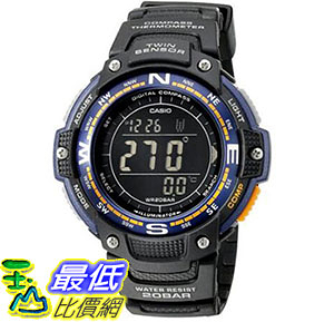 [美國直購] 手錶 Casio Mens SGW-100-2BCF Twin Sensor Digital Display Quartz Black Watch