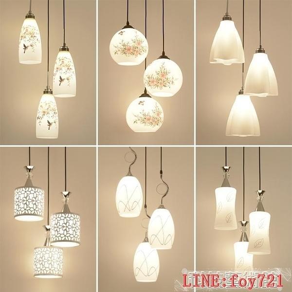 三頭創意餐桌燈時尚個性大氣飯廳LED客廳燈具DF科技藝術館