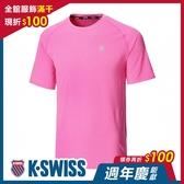 K-SWISS PF Logo Tee排汗T恤-男-桃紅