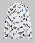 【摩達客】韓國進口EXO合作設計品牌DBSW Hand Drops手掉了白色 時尚純棉男士修身長袖襯衫(12815098010)
