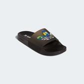 J- adidas ORIGINALS ADILETTE LITE PRIDE SLIDES 拖鞋 撞色 拼接 拖鞋男女 三葉草 FY9017