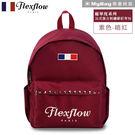 Flexflow 費氏芙蘿 後背包 FBB16DRA01 暗紅 龐畢度刺繡鉚釘後背包 MyBag得意時袋