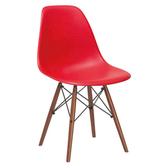 E-home EMS北歐經典造型餐椅紅色