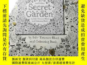 二手書博民逛書店Secret罕見Garden: 20 Postcards祕密花園