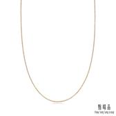 點睛品 機織素鍊 18K紅色黃金(45cm)
