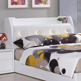 【YFS】Freda白色五尺皮革床頭箱-152x30x105cm