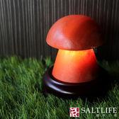 【鹽夢工場】USB系列-小蘑菇鹽燈 (富貴紅)