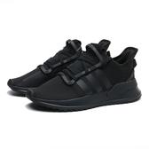 ADIDAS 慢跑鞋 U_PATH RUN 全黑 網布 透氣 運動 休閒 大童 女(布魯克林) G28107