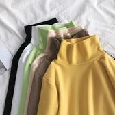 長袖T恤 大碼女裝胖mm洋氣減齡長袖T恤200斤上衣秋冬季內搭高領加絨打底衫【限時八折】