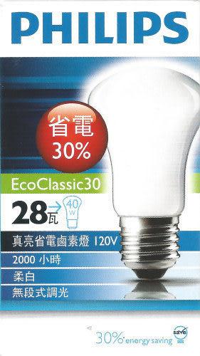 【燈王的店】《飛利浦鹵素燈泡》E27燈頭 28W鹵素燈泡 (易碎品需自取)☆ PHE27-28W