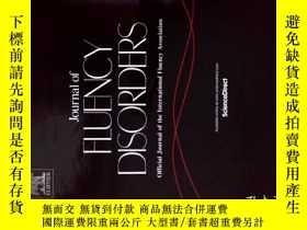 二手書博民逛書店Journal罕見of Fluency Disorders 12 2017 流暢障礙學術期刊Y114412